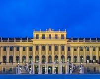 Schonbrunn Palace at night Stock Photos