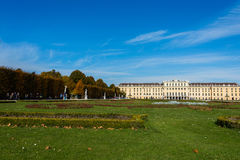 Schonbrunn Palace on October 14 in Vienna, Stock Photography