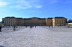 Schonbrunn Palace. With over 1000 rooms, this palace is one of the most beautiful and faimous palace in Austria Royalty Free Stock Images