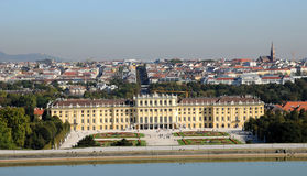 Schonbrunn palace - panorama of Vienna Royalty Free Stock Photos