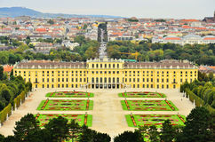 Schonbrunn Palace and park, Vienna, Austria Royalty Free Stock Photo