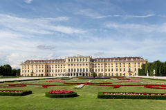 Schonbrunn Palace in Summer. A landscape of photo of Schonbrunn Palace in Vienna in the Summer Royalty Free Stock Photos