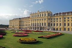 Schonbrunn palace Vien. Beautiful view of schonbrunn palace in vien Stock Photo