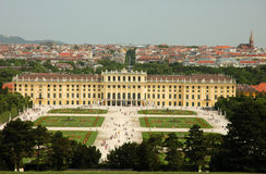 Schonbrunn Palace in Vienna stock photo