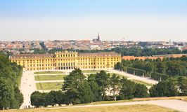 Schonbrunn Palace in Vienna, Austria Royalty Free Stock Images