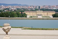 Schonbrunn Palace in Vienna, Austria Royalty Free Stock Photography
