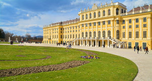 Schonbrunn Palace. Vienna, Austria - April 4, 2015: The Schonbrunn Palace in Vienna. Shot taken on April 4th, 2015 Stock Image
