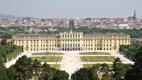 Schonbrunn Palace In Vienna stock footage