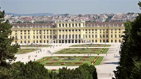 Schonbrunn Palace In Vienna stock video footage