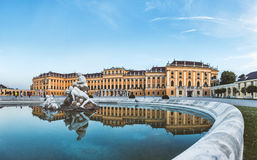 Schonbrunn palace in Vienna, Austria. Beautiful Schonbrunn palace in Vienna, Austria Royalty Free Stock Photography