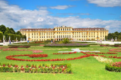 Schonbrunn Palace in Vienna Stock Photos