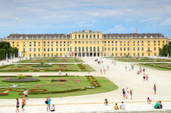 Schonbrunn Palace in Vienna, Austria. Royalty Free Stock Image