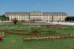 Schonbrunn Palace in Vienna, Austria royalty free stock photos