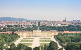Schonbrunn Palace in Vienna, Austria Stock Photos