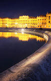 Schonbrunn Palace in Vienna, Austria, reflected Royalty Free Stock Photos