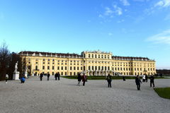 Schonbrunn Palace in Vienna, Austria. Schonbrunn Palace building is one of the most popular tourist attractions in Vienna Stock Photo