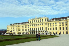 Schonbrunn Palace in Vienna, Austria. Schonbrunn Palace building is one of the most popular tourist attractions in Vienna. Royalty Free Stock Photo
