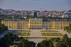 Schonbrunn Palace, Vienna, Austria view Royalty Free Stock Images