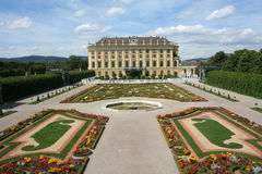 Schonbrunn Palace in Vienna Stock Photography