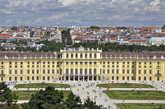 Schonbrunn palace in Vienna Royalty Free Stock Photos