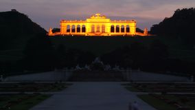 Schonbrunn palace in Vienna day to night time lapse stock video
