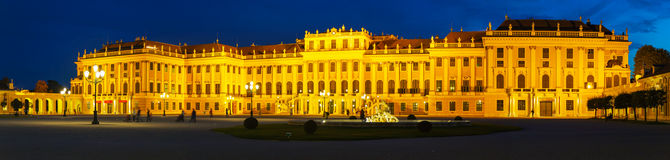 Schonbrunn palace in Vienna in the evening Royalty Free Stock Image