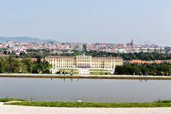Schonbrunn palace in Vienna. The palace and gardens illustrate the tastes, interests, and aspirations of successive Habsburg monarchs Stock Image