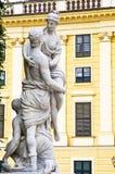 Schonbrunn Palace in Vienna. Sculptures in Schonbrunn Palace Gardens Stock Photos