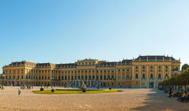 Schonbrunn palace in Vienna at sunset Stock Photography