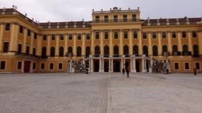 Vienna Schonbrunn Palace in Vienna. Tourists walk in front of the Palace. Schonbrunn Palace in Vienna. Tourists walk in front of the Palace 2019 stock video