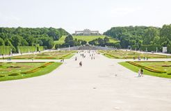 Schonbrunn Palace in Wien, Austria. Garden of Schonbrunn Palace in Wien, Austria Royalty Free Stock Photo