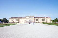 Schonbrunn Palace in Wien, Austria. Garden of Schonbrunn Palace in Wien, Austria Royalty Free Stock Photos