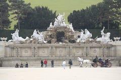 Schonbrunn trädgård, Wien Royaltyfria Bilder