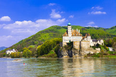 Schonbuhel castle on Danube river Royalty Free Stock Images