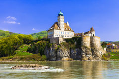 Schonbuhel castle on Danube river Stock Image