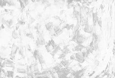 Schone abstracte achtergrond van witte ruwe canvastextuur van verfvlekken Beeld met exemplaarruimte Stock Afbeelding