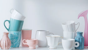 Schone Dishware in Afwasmachine royalty-vrije stock fotografie