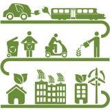 Schone energie en groen milieu Royalty-vrije Stock Afbeeldingen