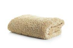 Schone handdoeken die op wit worden geïsoleerd stock foto