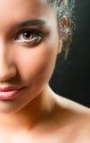 Schone make-up op een mooi meisje Royalty-vrije Stock Foto's