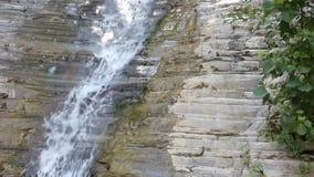 Schone waterdaling van oude rots - waterval in het bos stock videobeelden