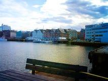 Schoner, Boote, Boote auf dem Pier norwegen Sommer 2012 Stockbilder