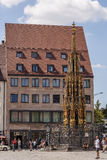 Schoner Brunnen fountain Nurnberg Royalty Free Stock Photo