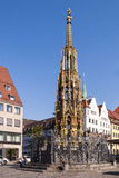 Schoner Brunnen fountain Nurnberg Royalty Free Stock Photos