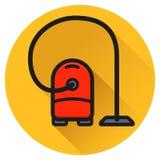 Schoner vacuümcirkel vlak pictogram Royalty-vrije Stock Afbeelding