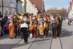 Schongau, Германия, Бавария 03 03 2019: Шествие масленицы в баварском Schongau стоковое изображение