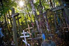 Schongebiet und Friedhof auf Garbarka-Berg, Polen Stockfotografie