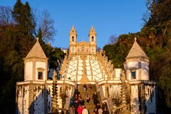 Schongebiet von Bom Jesus tun Monte de Braga Stockbild