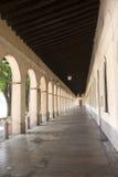 Schongebiet von Caravaggio (Italien), Portico Lizenzfreies Stockfoto