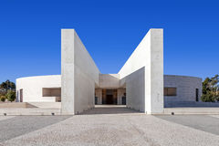 Schongebiet von Fatima, Portugal Eingang der geringen Basilika der meisten Heiligen Dreifaltigkeit Lizenzfreie Stockbilder